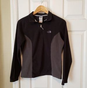 The North Face Grey Black 3/4 Zip Ladies S/ M